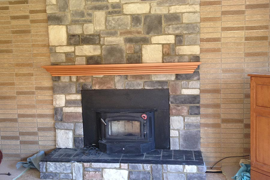Fireplace, BBQ's, Mailbox Brick Work Services in Macomb MI - stonefireplace2